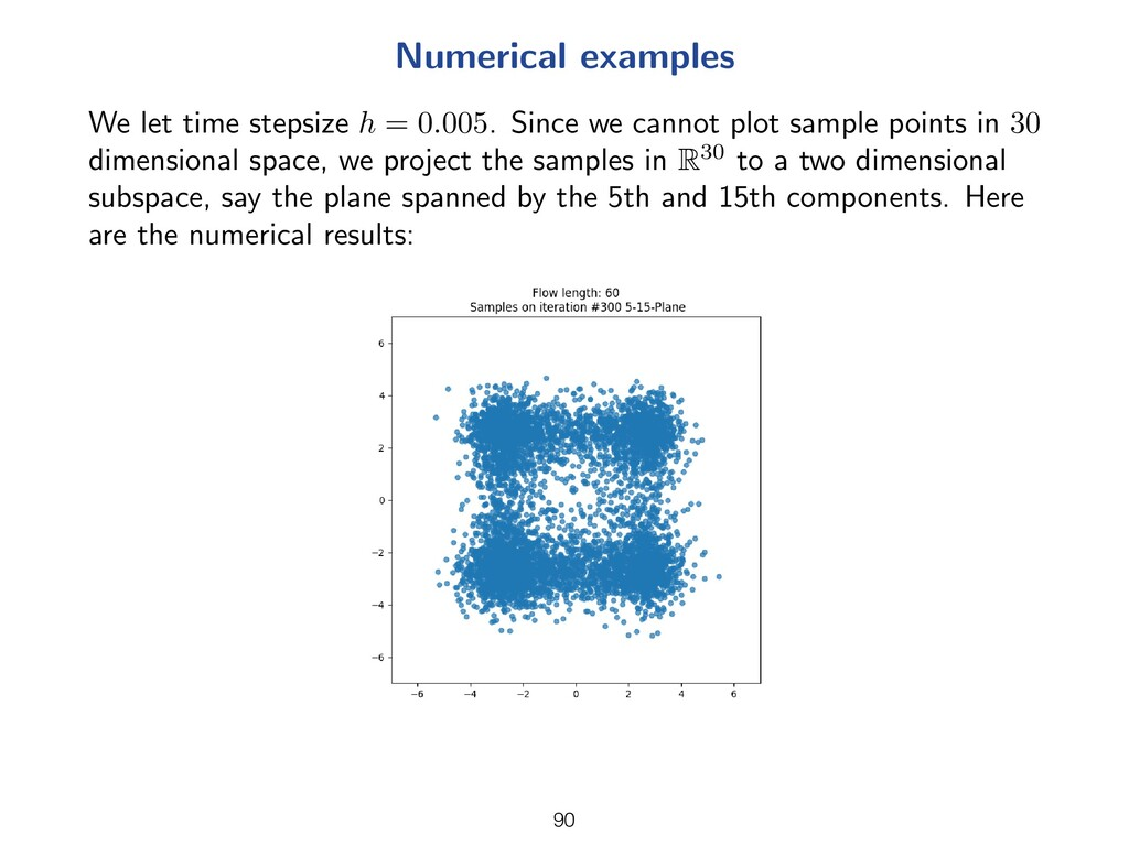 Numerical examples We let time stepsize h = 0.0...