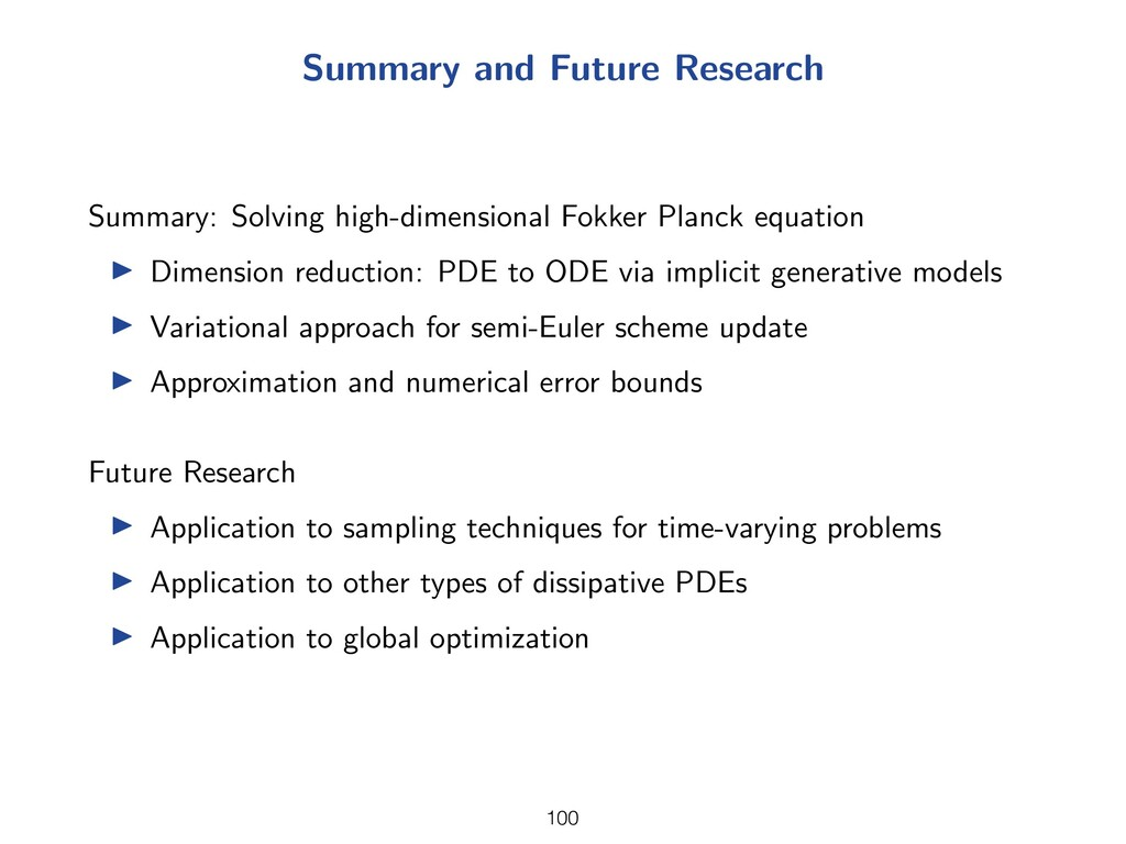 Summary and Future Research Summary: Solving hi...