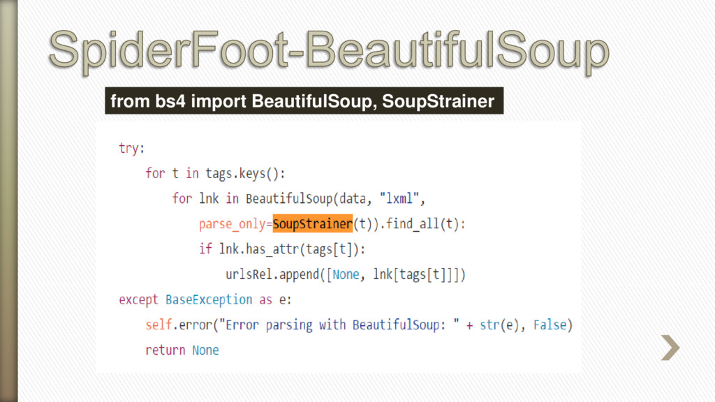 from bs4 import BeautifulSoup, SoupStrainer