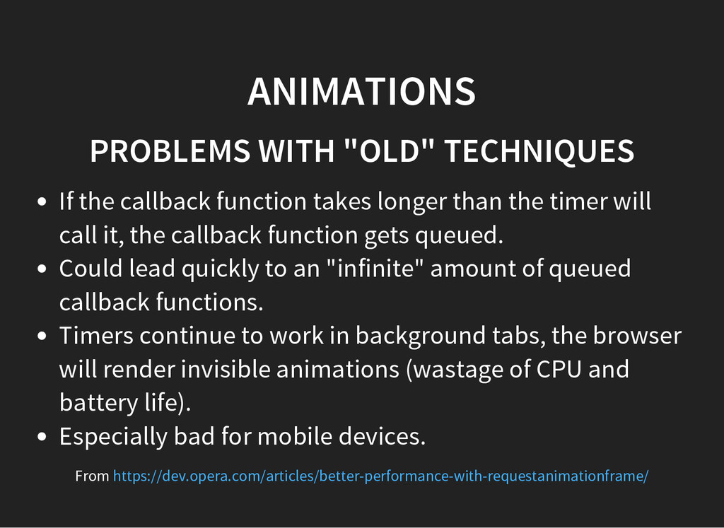 "ANIMATIONS PROBLEMS WITH ""OLD"" TECHNIQUES If th..."