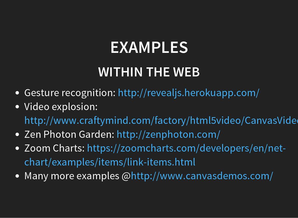 EXAMPLES WITHIN THE WEB Gesture recognition: Vi...