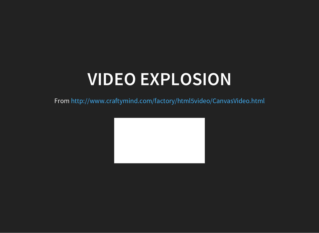 VIDEO EXPLOSION From http://www.craftymind.com/...