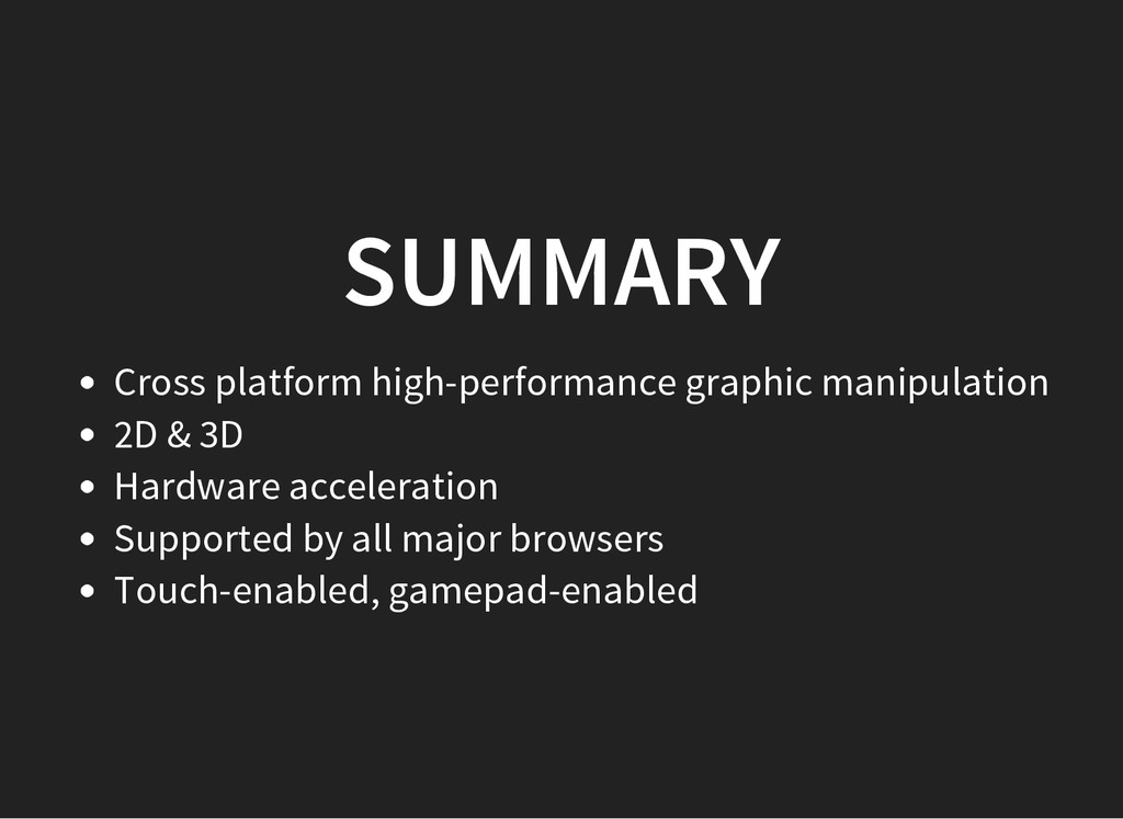 SUMMARY Cross platform high-performance graphic...