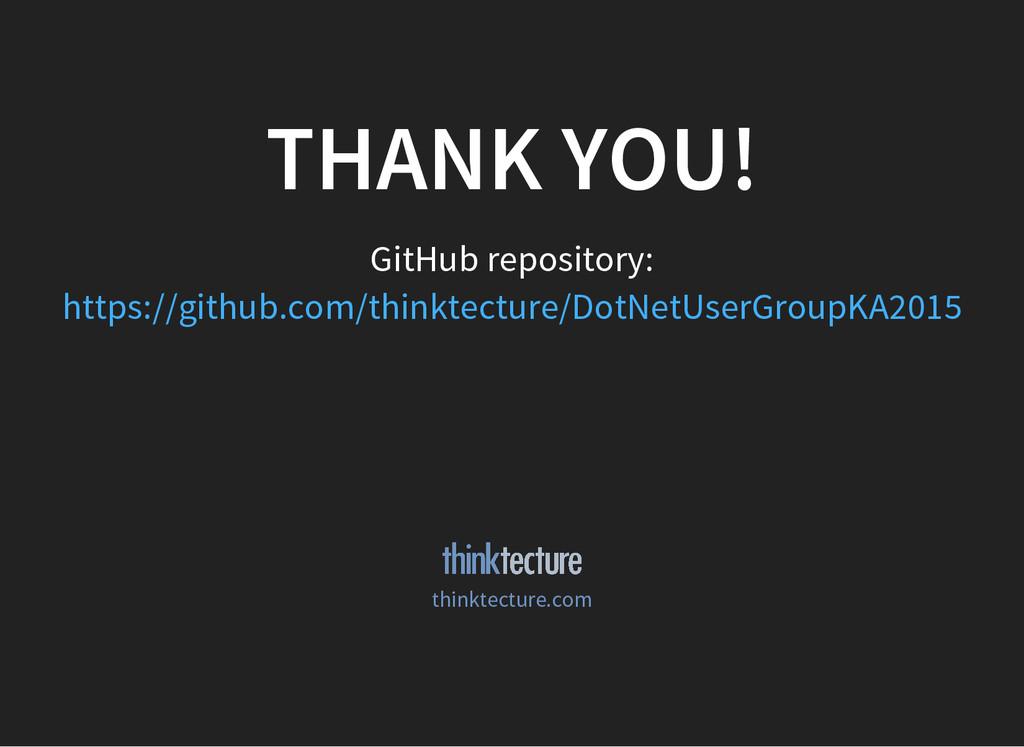 THANK YOU! GitHub repository: https://github.co...
