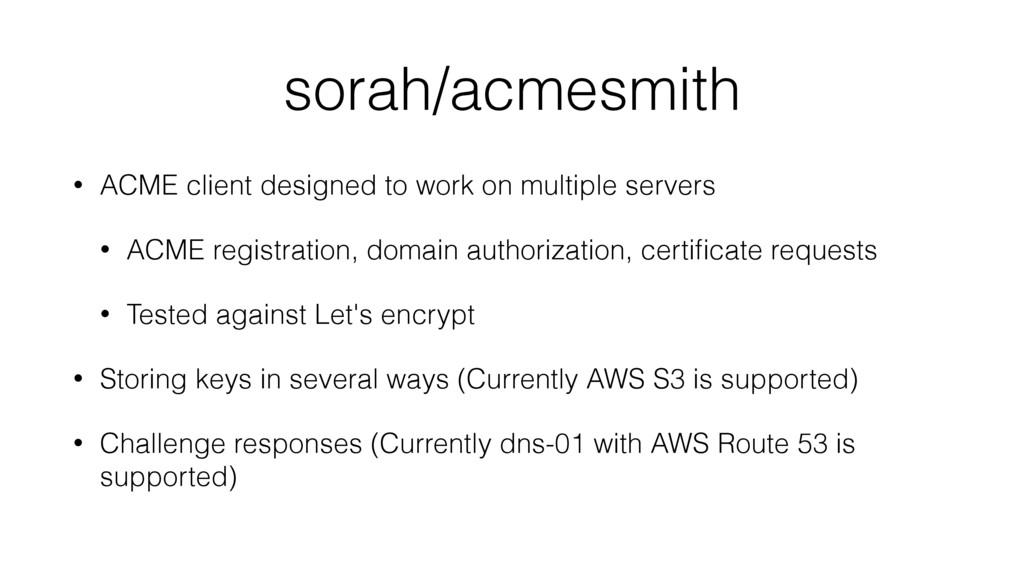 sorah/acmesmith • ACME client designed to work ...