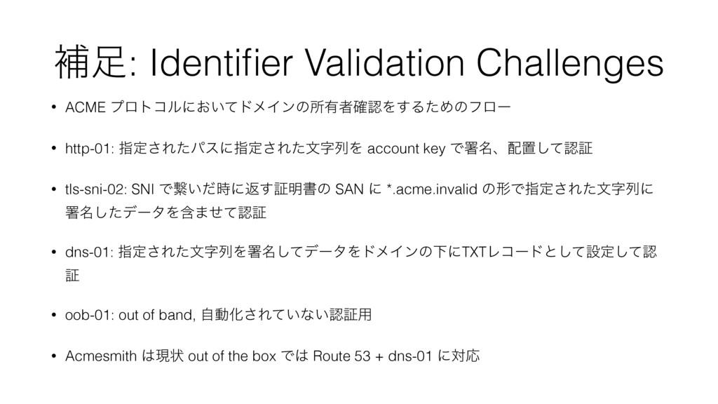 ิ: Identifier Validation Challenges • ACME ϓϩτί...