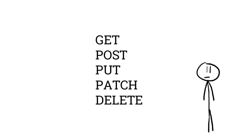 GET POST PUT PATCH DELETE