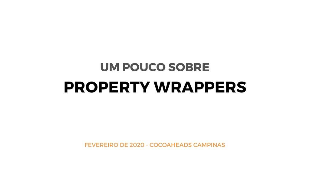 FEVEREIRO DE 2020 - COCOAHEADS CAMPINAS PROPERT...