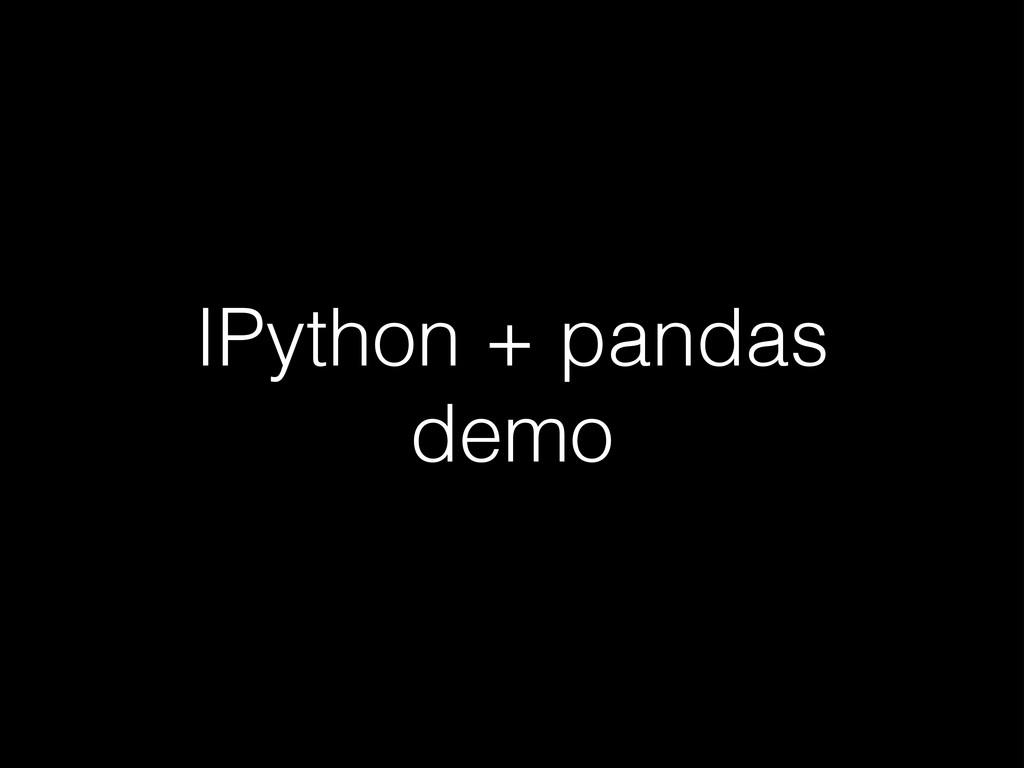 IPython + pandas demo
