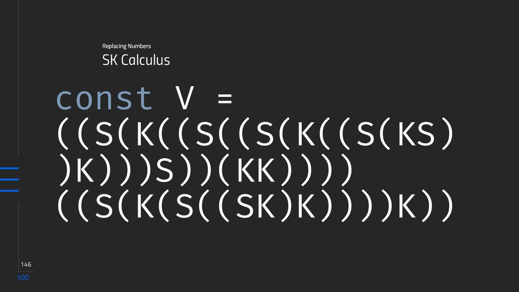 100 146 SK Calculus Replacing Numbers const V =...