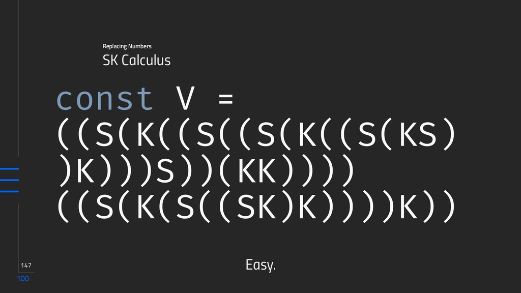 100 147 SK Calculus Replacing Numbers const V =...