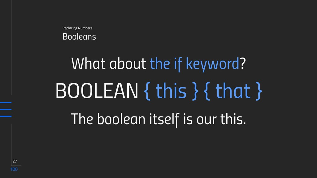 100 27 Booleans Replacing Numbers What about th...