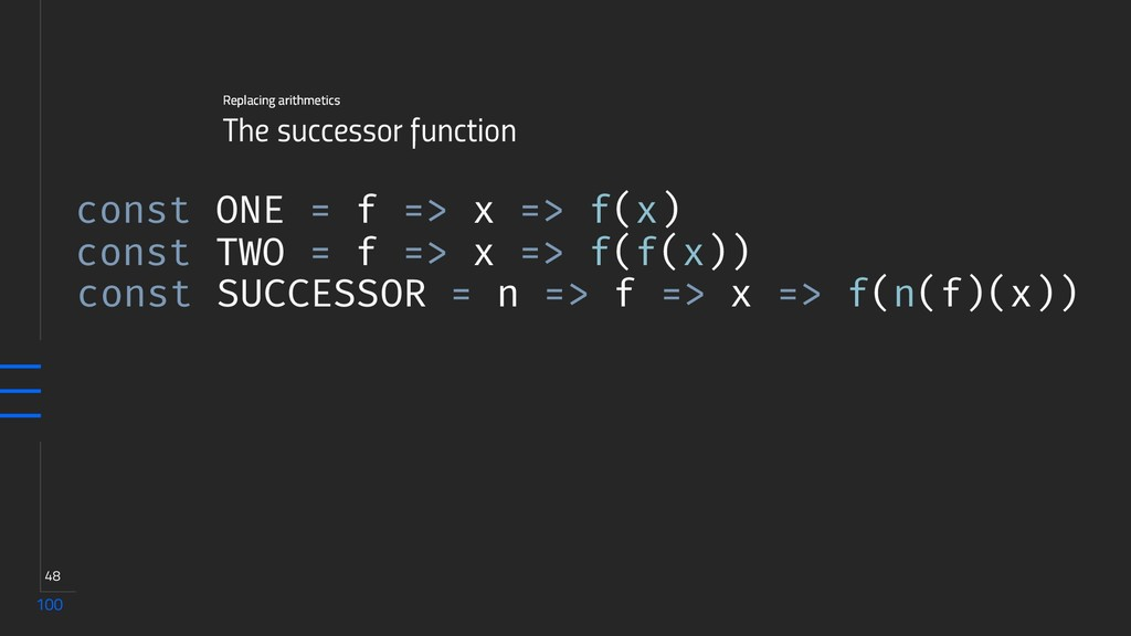 100 48 The successor function Replacing arithme...