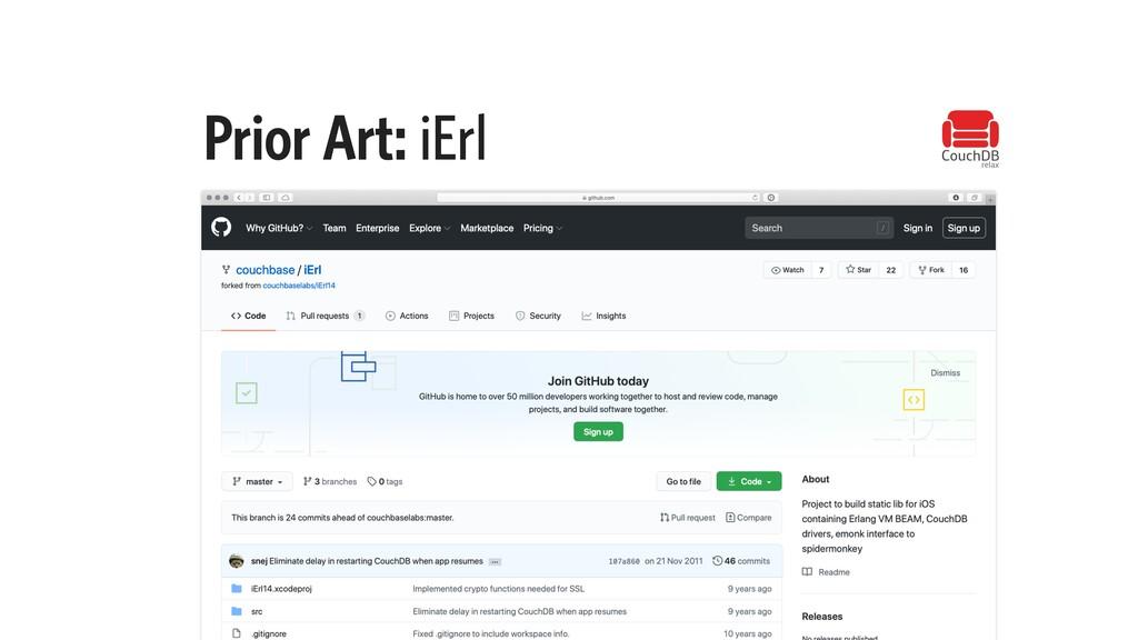 Prior Art: iErl