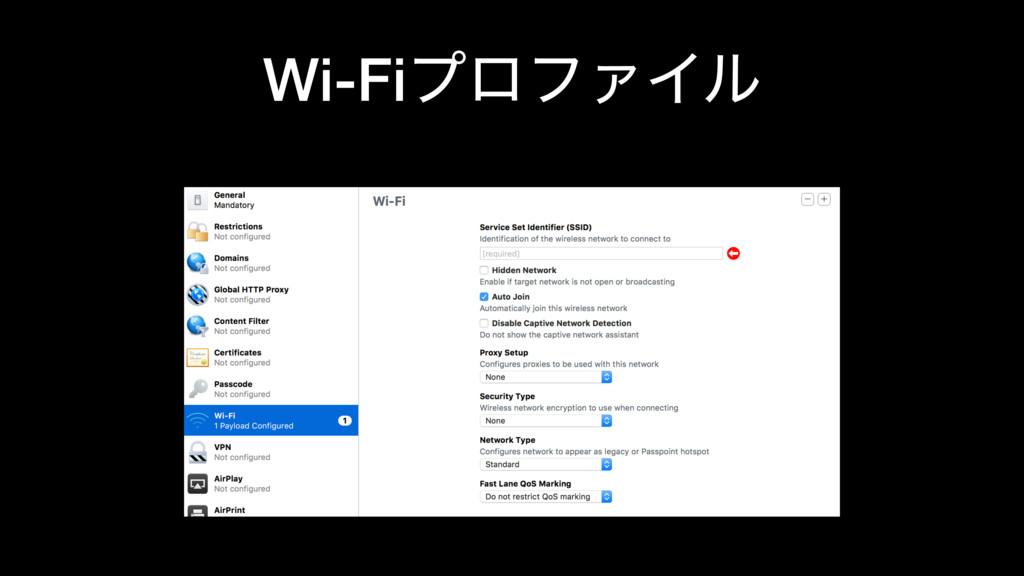 Wi-FiϓϩϑΝΠϧ