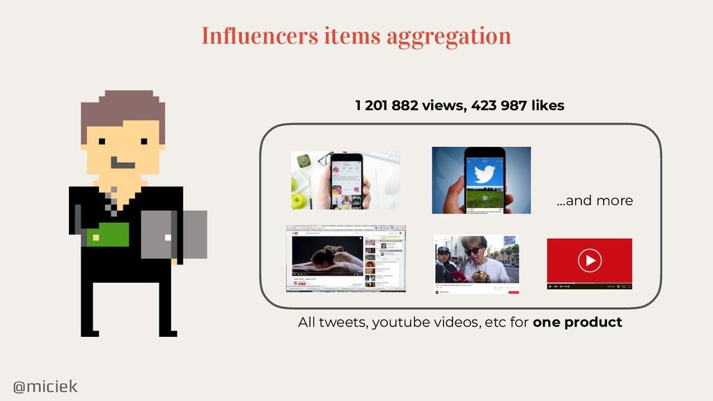 @miciek Influencers items aggregation 1 201 882...