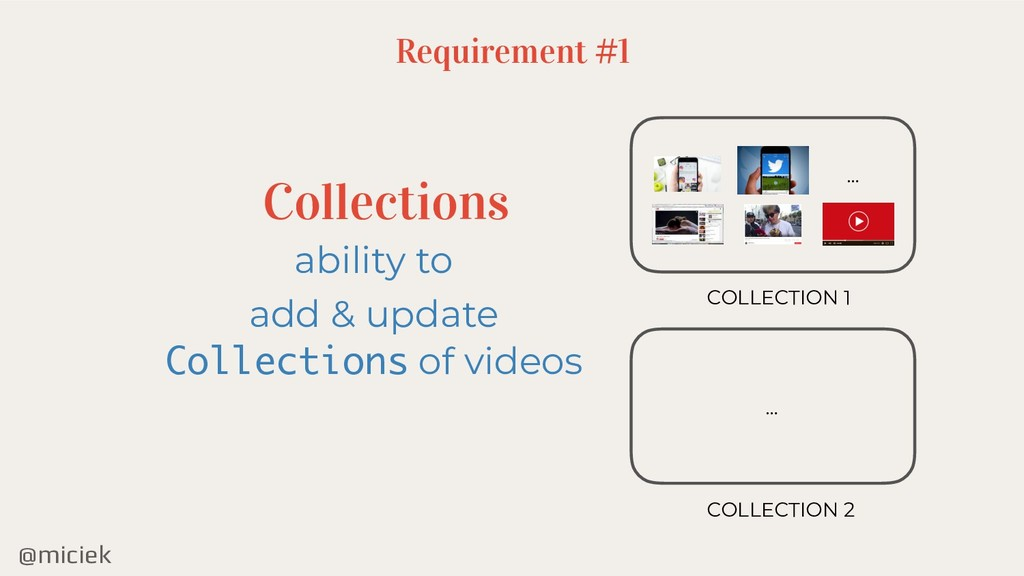 @miciek Requirement #1 Collections ability to a...