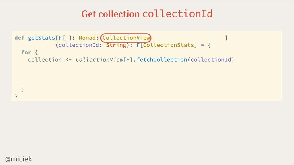 @miciek Get collection collectionId