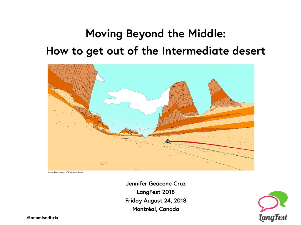 Moving Beyond the Middle: 