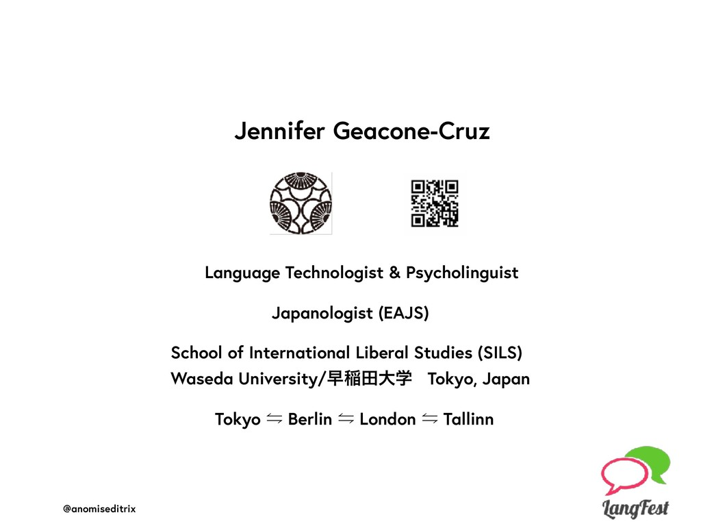 @anomiseditrix Jennifer Geacone-Cruz Language T...
