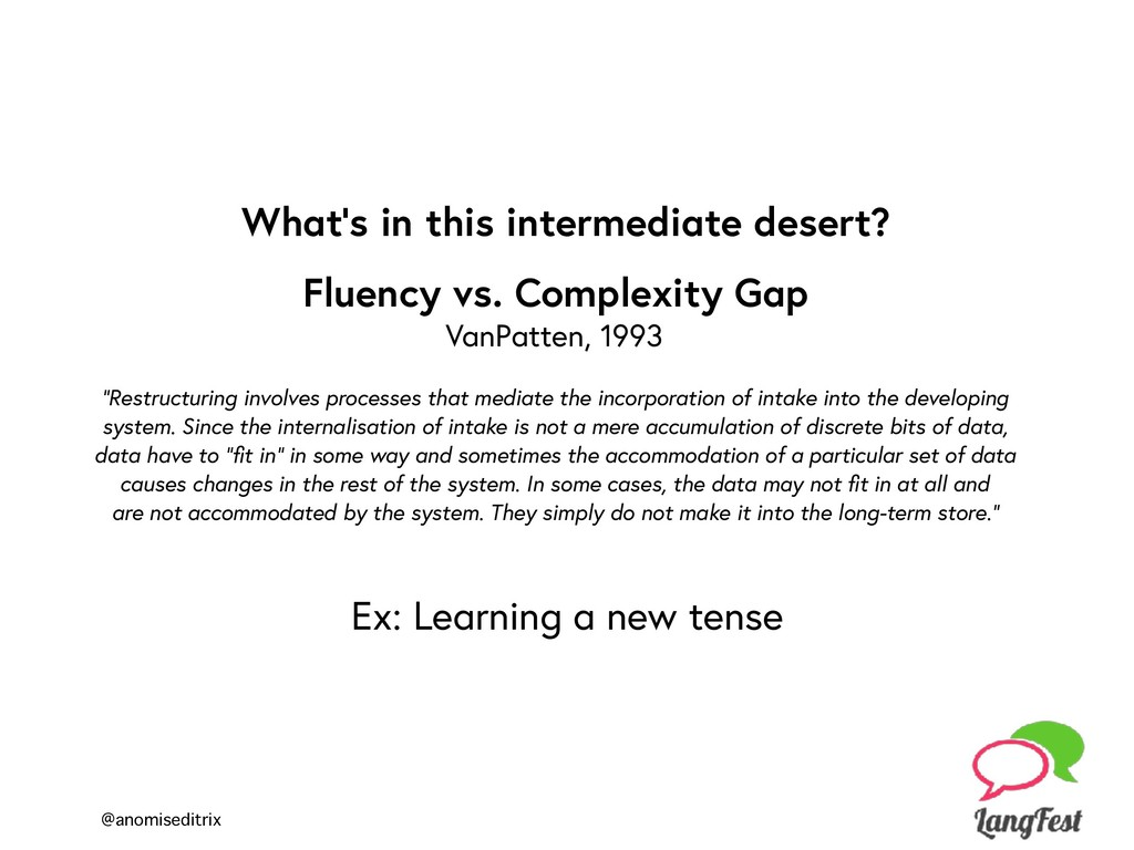 @anomiseditrix Fluency vs. Complexity Gap VanPa...