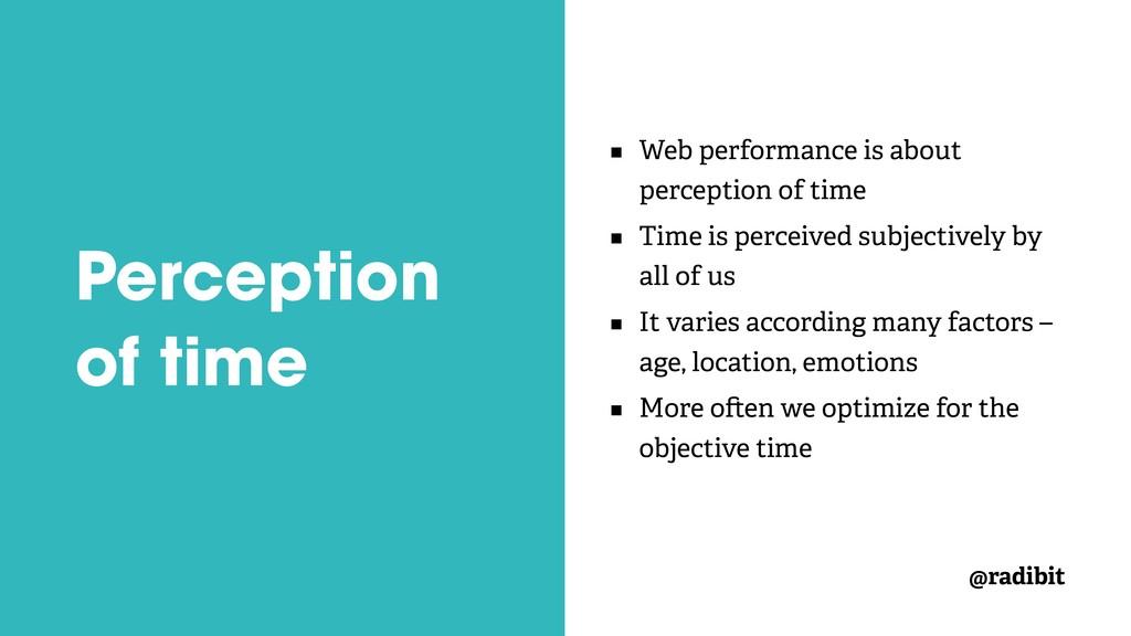 @radibit Perception of time Web performance is ...