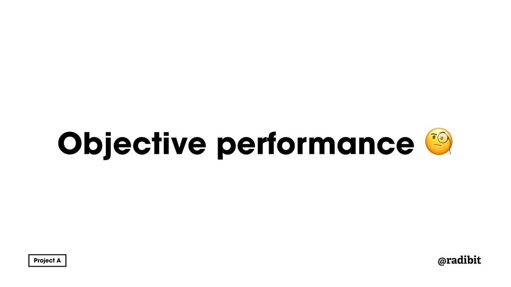 @radibit Objective performance