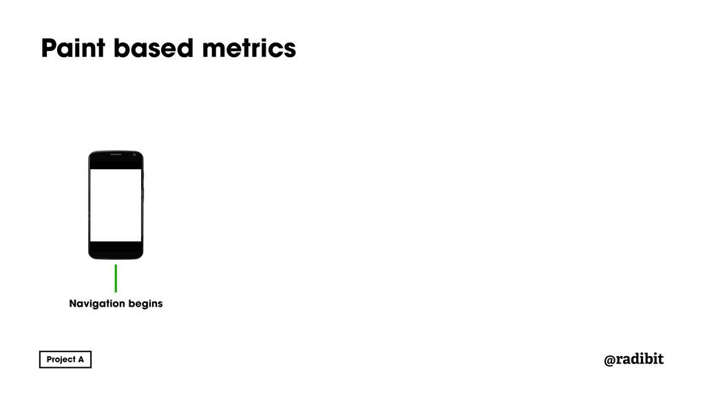@radibit Paint based metrics Navigation begins