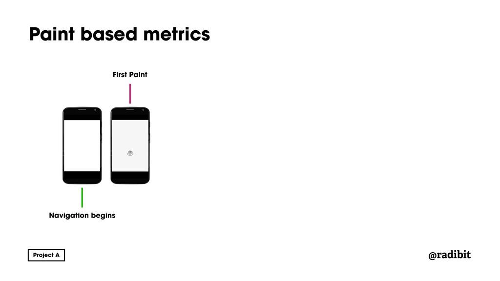 @radibit Paint based metrics Navigation begins ...