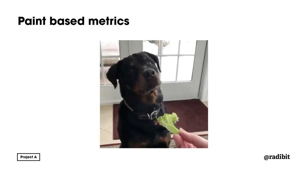 @radibit Paint based metrics
