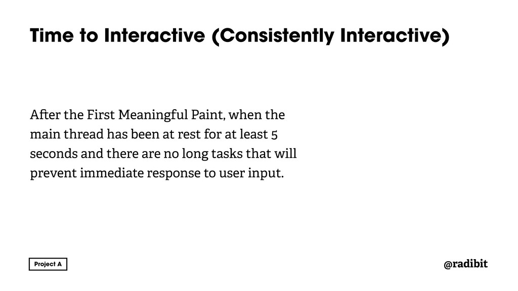 @radibit Time to Interactive (Consistently Inte...