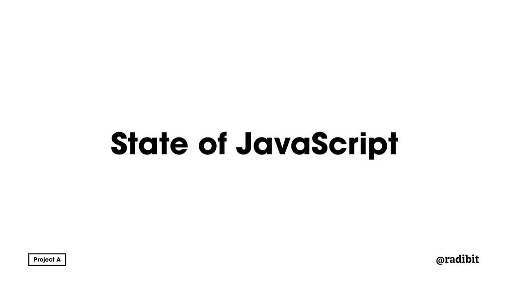 @radibit State of JavaScript