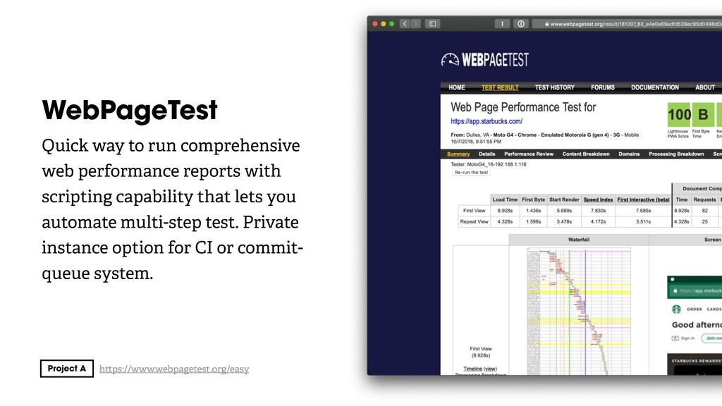 WebPageTest Quick way to run comprehensive web ...