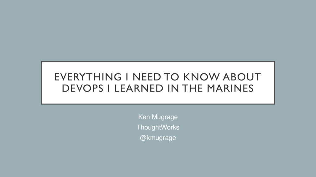 EVERYTHING I NEED TO KNOW ABOUT DEVOPS I LEARNE...