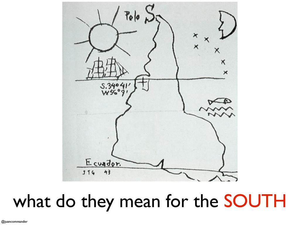 what do they mean for the SOUTH @juancommander