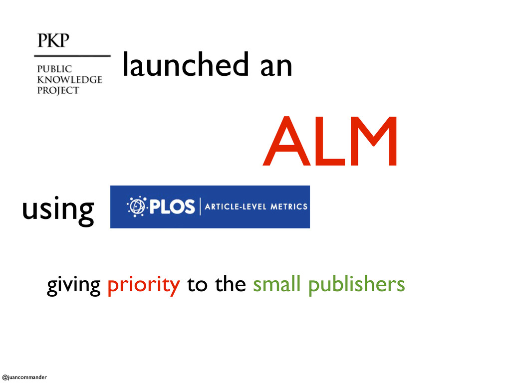 launched an ALM giving priority to the small pu...