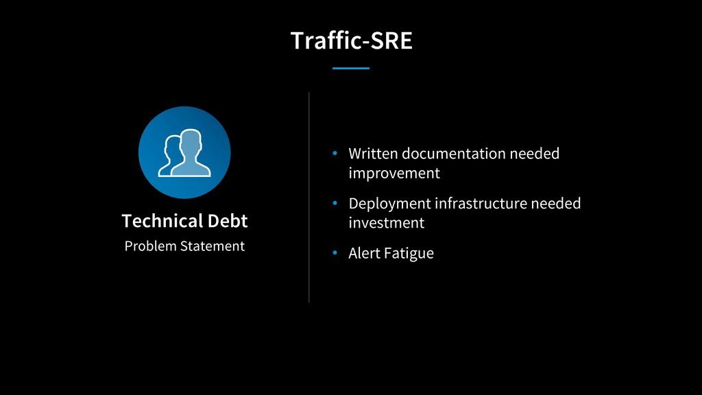 Problem Statement Technical Debt • Written docu...