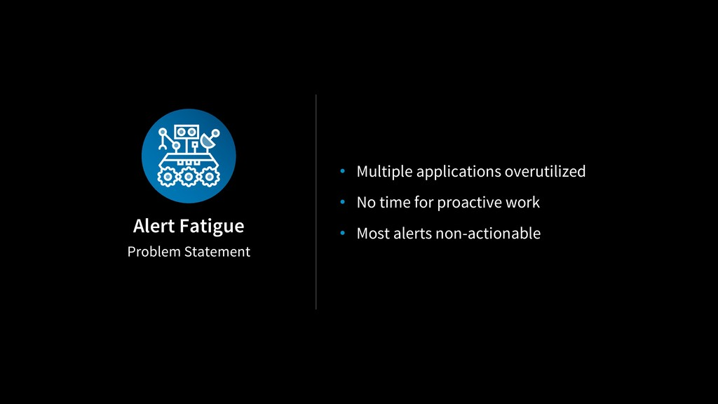 Problem Statement Alert Fatigue • Multiple appl...