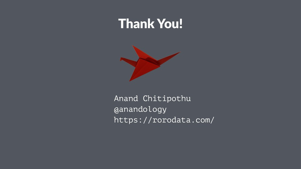 Thank You! Anand Chitipothu @anandology https:/...