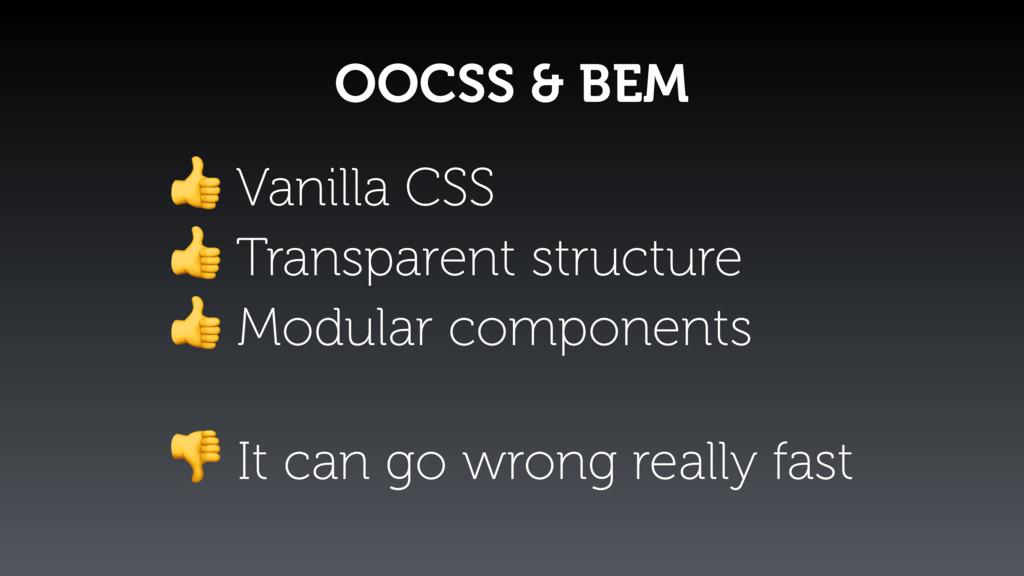 OOCSS & BEM  Vanilla CSS  Transparent structure...