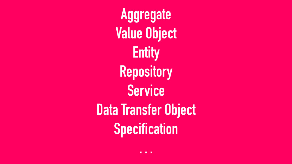 Aggregate Value Object Entity Repository Servic...