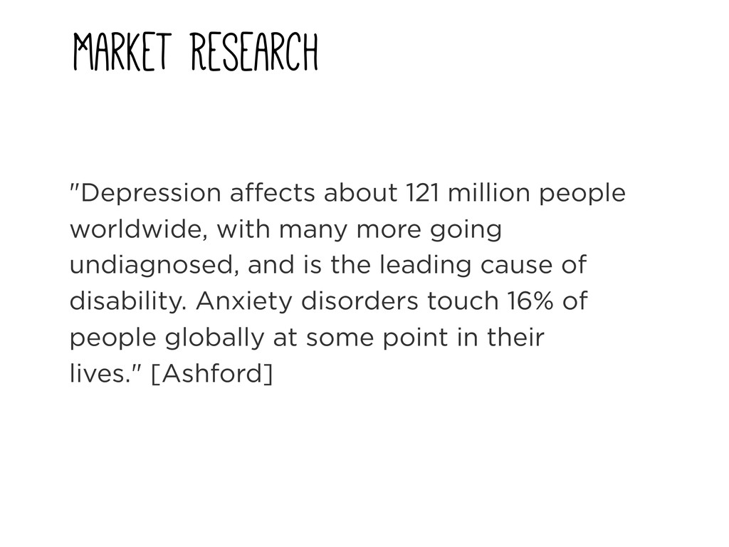 "Market Research ""Depression affects about 121 m..."