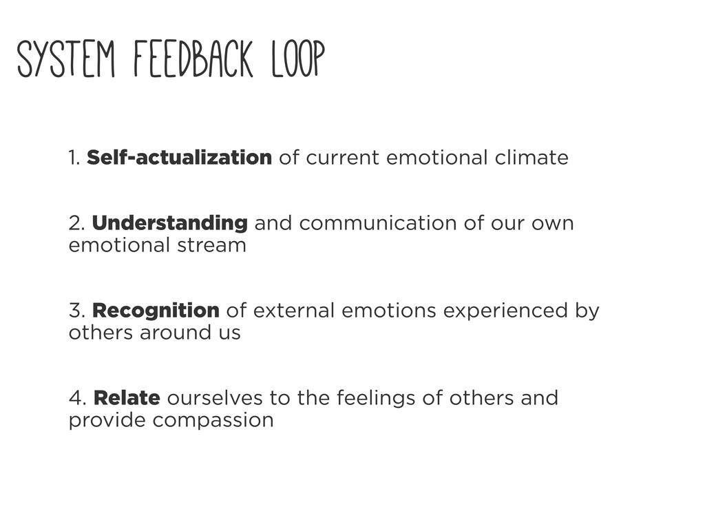 1. Self-actualization of current emotional clim...