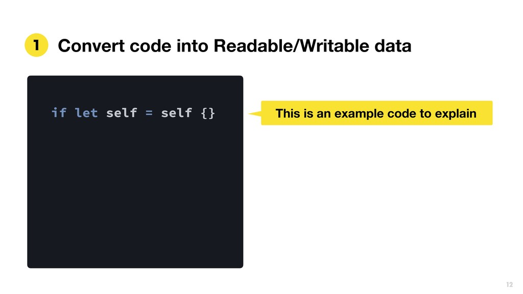 Convert code into Readable/Writable data  if l...