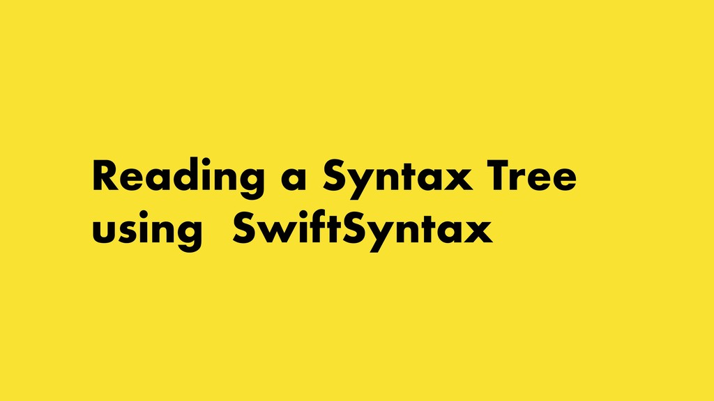 Reading a Syntax Tree