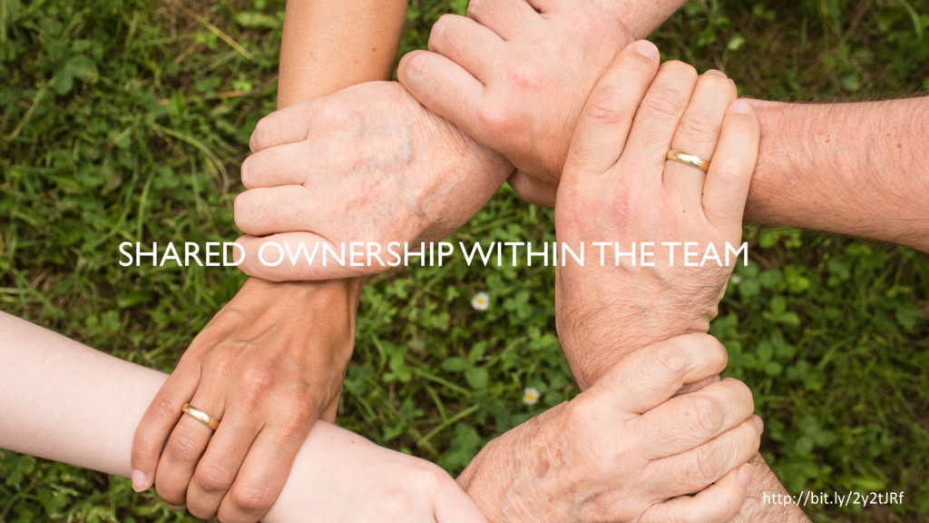 SHARED OWNERSHIP WITHIN THE TEAM http://bit.ly/...