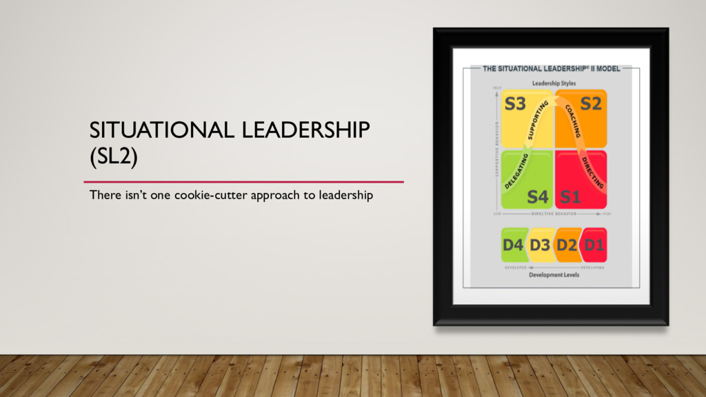 SITUATIONAL LEADERSHIP (SL2) There isn't one co...