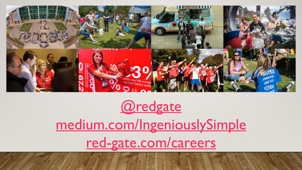 @redgate medium.com/IngeniouslySimple red-gate....