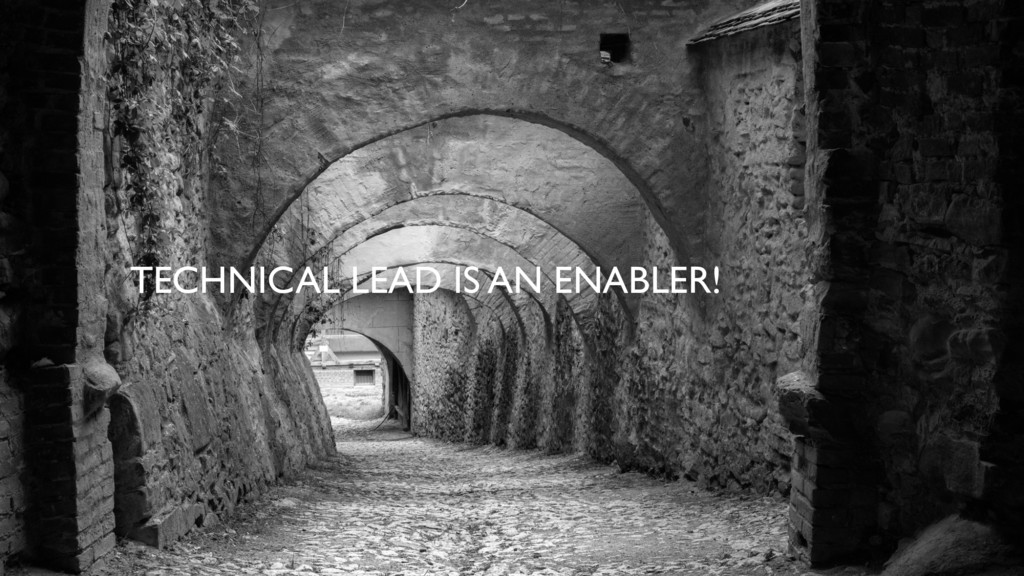 TECHNICAL LEAD IS AN ENABLER!