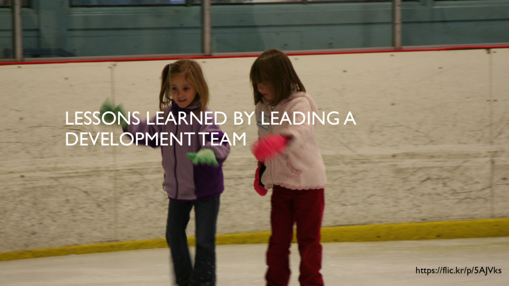 LESSONS LEARNED BY LEADING A DEVELOPMENT TEAM h...